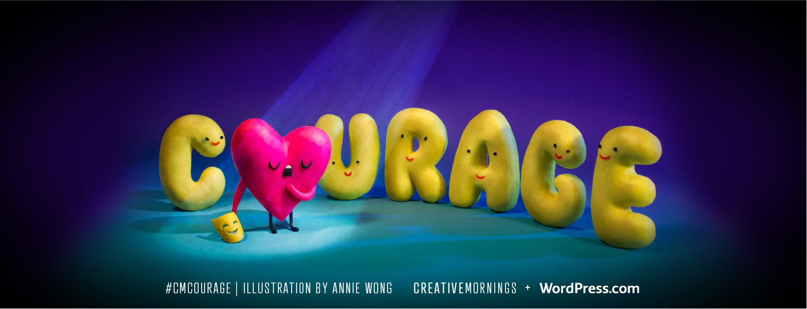 C'est la 8e édition des CreativeMornings Lyon avec pour theme se mois ci : COURAGE