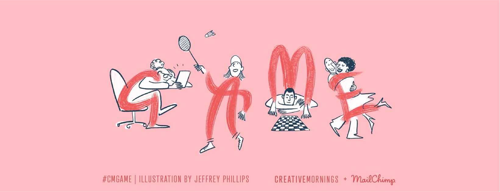 C'est la 9e édition et les CreativeMornings Lyon fait le plein de jeu avec pour theme se mois ci : GAME