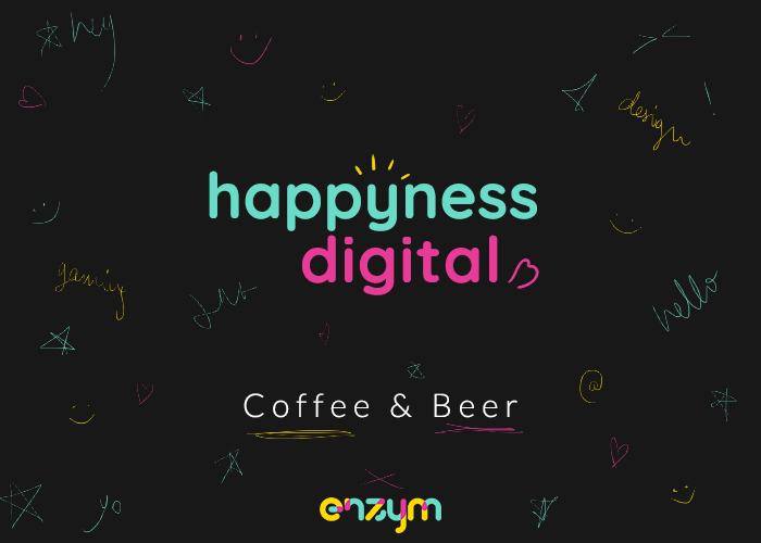 ENZYM paie ta bière au Happyness Digital Coffee and Beer